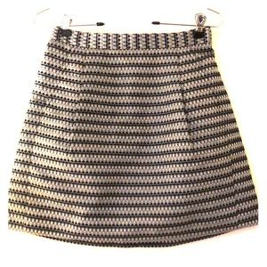 BCBG striped mini skirt, size 2